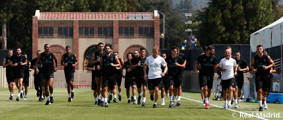 Video: Real Madrid squad complete first training session at UCLA