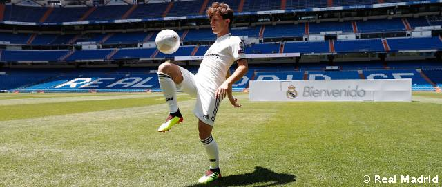 Odriozola stepped out on the pitch at the Bernabéu