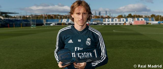 Modric, Goal 50 Award for the best player in the world in the 2017/18 season