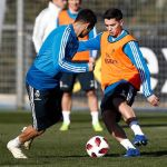 Brahim Díaz trained as a Real Madrid player for the first time