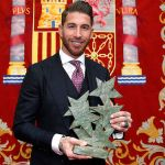 Sergio Ramos awarded the Seven Stars of Madrid prize