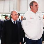 Florentino Pérez has arrived in Vitoria