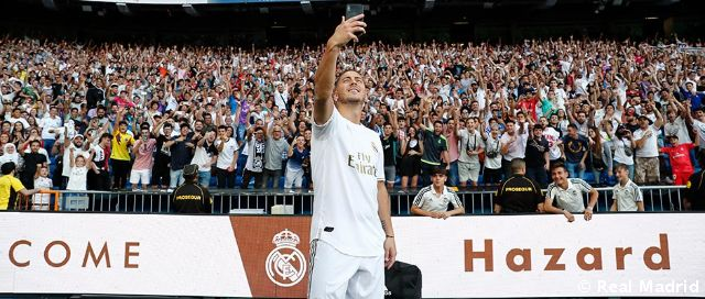 Madridismo pulls out all the stops to welcome Hazard