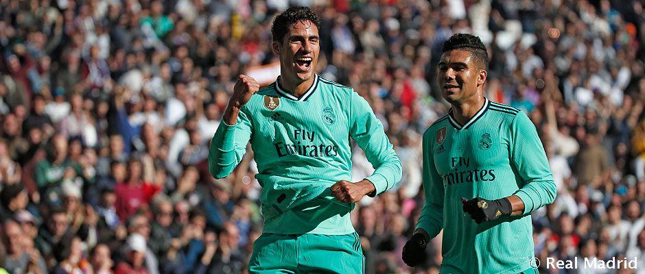 Video: 2-0: Die Tore von Varane und Benzema machen Real Madrid zum Tabellenführer