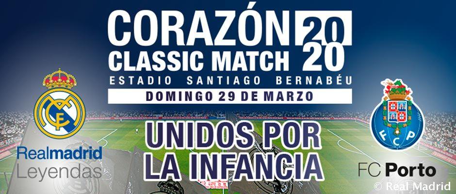 Video: El 29 de marzo se disputa el Corazón Classic Match 2020 en el Bernabéu