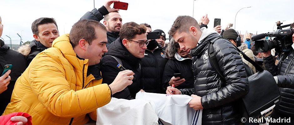 Video: Así fue la llegada del Real Madrid a Salamanca