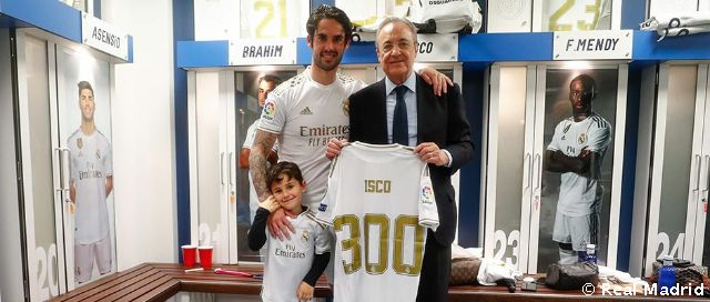 Isco reaches the 300 match mark as a madridista