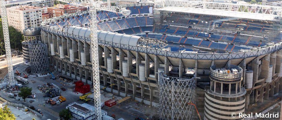 Video: So laufen die Bauarbeiten am Santiago Bernabéu Stadion