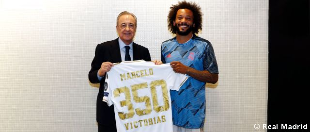 Marcelo, 350 victoires avec le Real Madrid