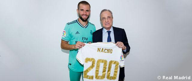 Video: Nacho: 200 partidos con el Real Madrid