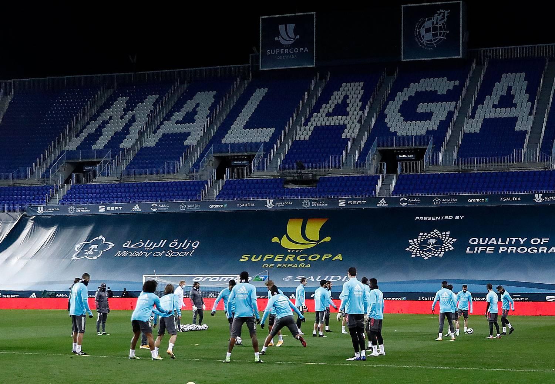 Entrenamiento del Real Madrid en Málaga - 22-01-2021