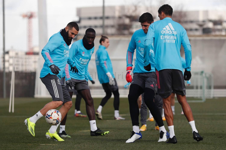 Entrenamiento del Real Madrid  - 08-03-2021