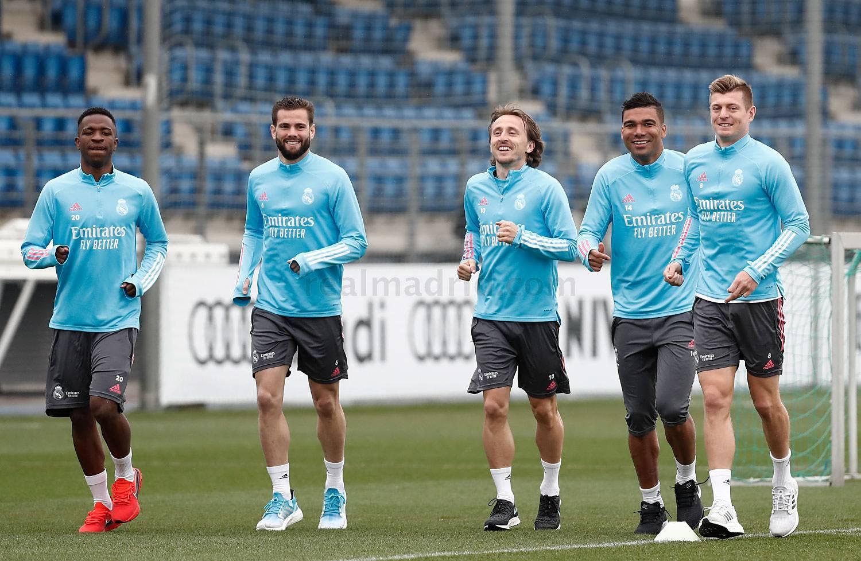 Entrenamiento del Real Madrid  - 04-03-2021