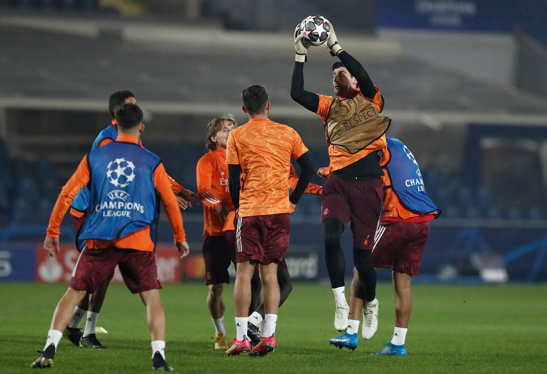 Entrenamiento del Real Madrid en el Estadio de Bérgamo - 28-02-2021