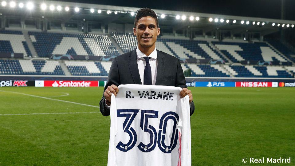 Video: Varane: 350 Spiele bei Real Madrid