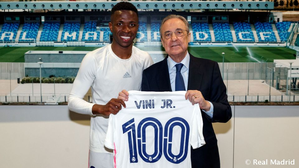 Video: Vinicius Jr. on target in 100th Real Madrid outing