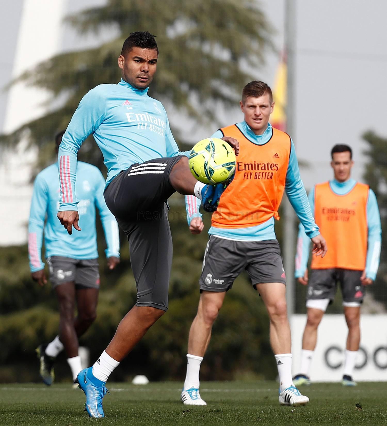 Entrenamiento del Real Madrid  - 12-04-2021
