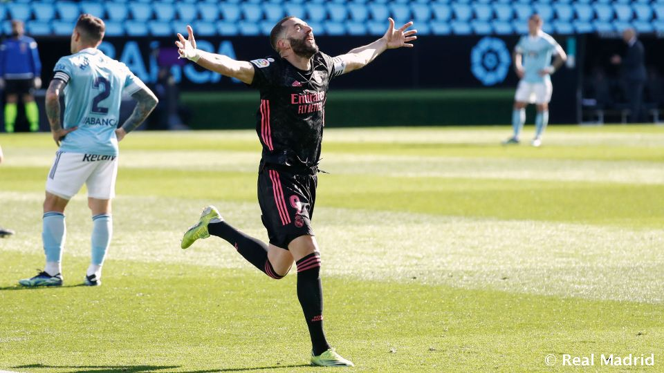 Video: Benzema moves level with Santillana as Real Madrid