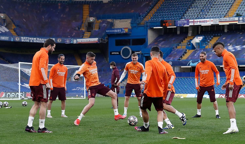 Entrenamiento del Real Madrid en Londres - 16-05-2021