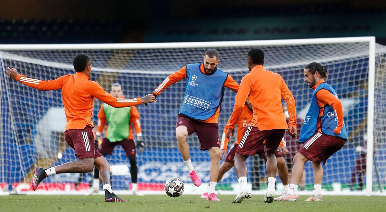 Entrenamiento del Real Madrid en Londres - 09-05-2021