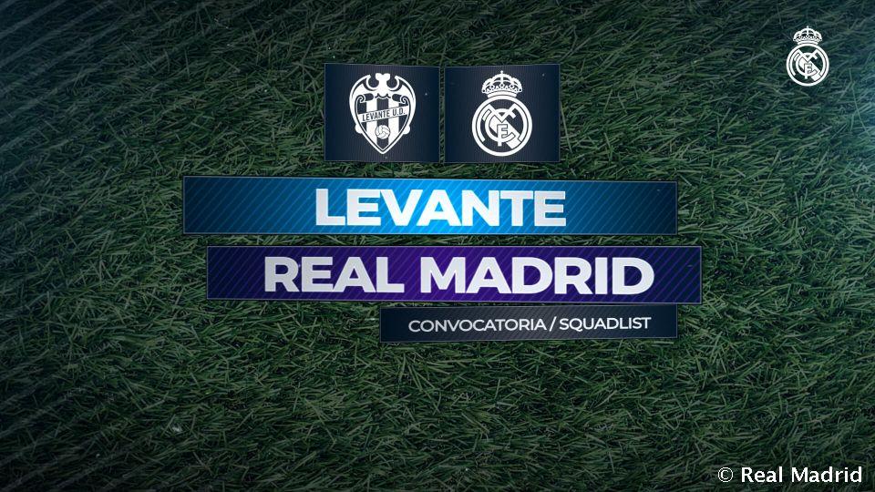 Video: Real Madrids Nominierung für das Spiel gegen Levante
