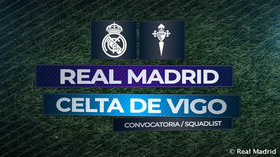 Video: Real Madrid squad for Celta clash