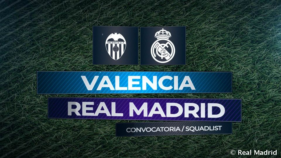 Video: Real Madrid squad to face Valencia