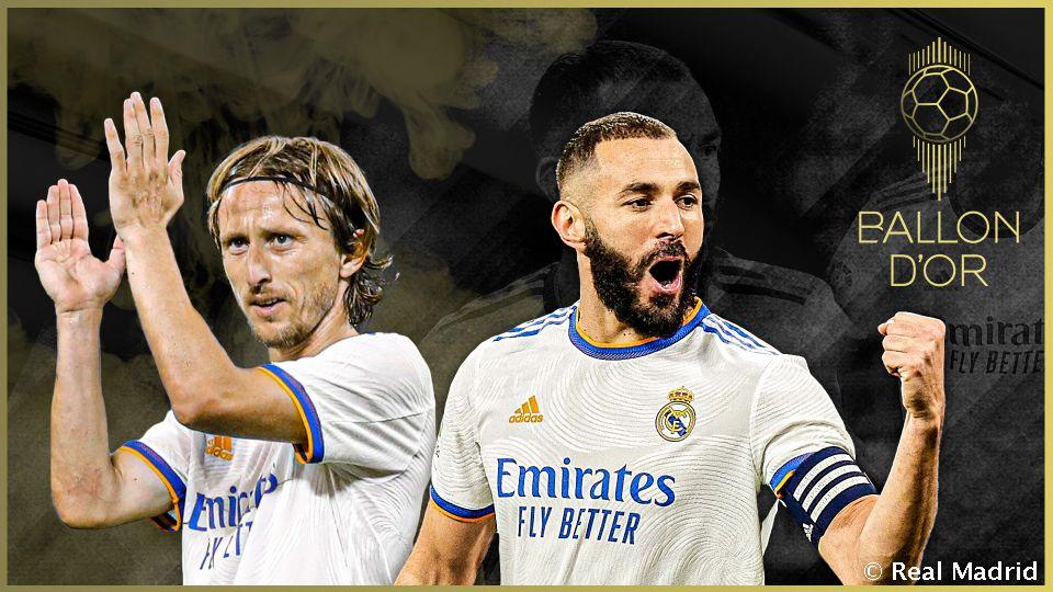 Video: Benzema and Modrić among nominees for the Ballon dOr 2021
