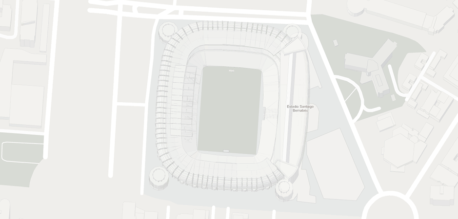 Location in the stadium