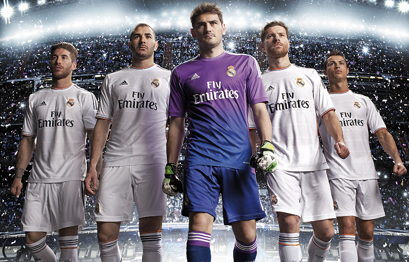 Real Madrid and Adidas present today the third kit for the 2013/14 ...