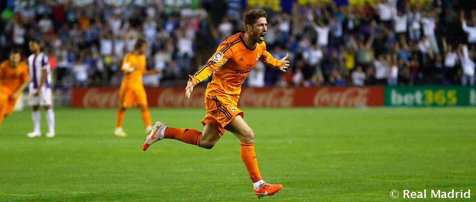 Ramos celebrates his goal [via realmadrid.com]