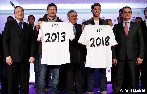 El Real Madrid y Saudí Telecom Company renovaron su acuerdo de patrocinio internacional