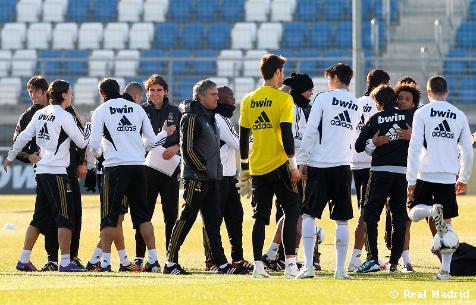 اجرى نادي ريال مدريد تدريبه الثالث هذا