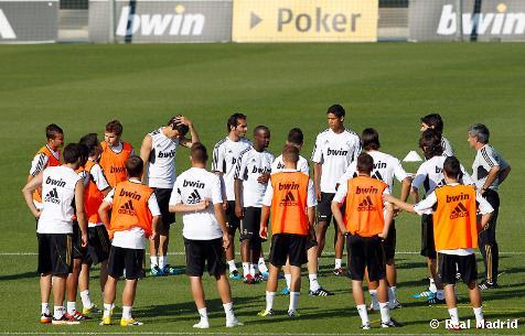 Entrenamiento Real Madrid