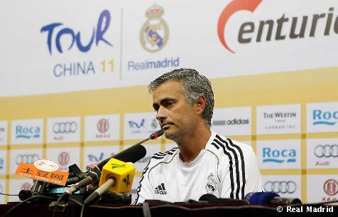 """Mourinho: """"Estoy contento con la actitud de los jugadores durante esta semana en China"""""""
