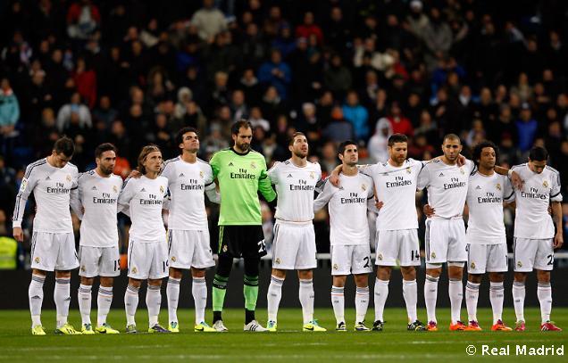 Před zápasem Realu Madrid se držela minuta ticha, dnes totiž zemřel otec Fábia Coentraa.
