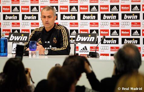 Rueda de prensa de Mourinho