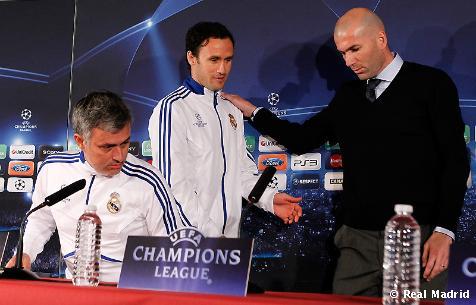 Zidane, Mourinho y Carvalho