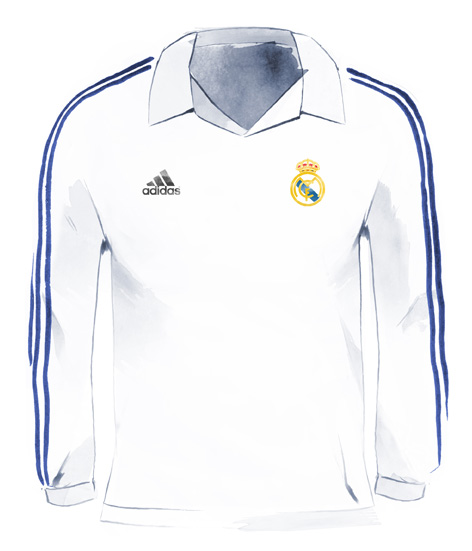 6aabb71b3f8 Real Madrid centenary shirt without sponsorship (2001-2002)