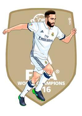 Dibujo Niño Futbol Real Madrid