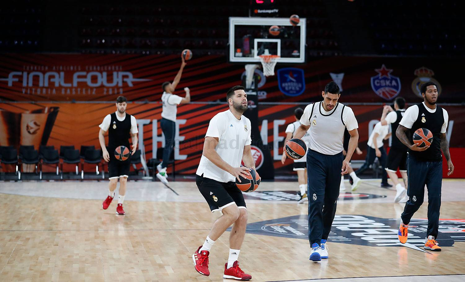 Real Madrid - Entrenamiento del Real Madrid de baloncesto en Vitoria - 17-05-2019