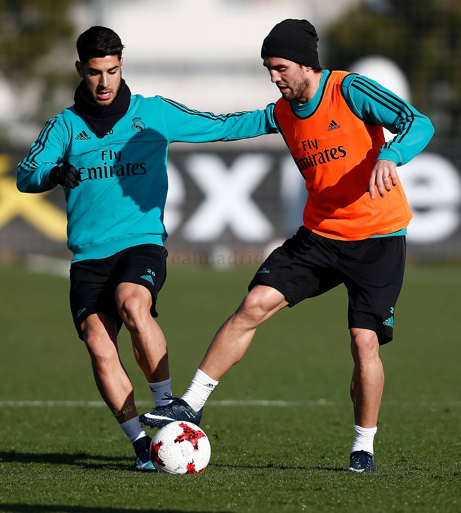 Real Madrid - Entrenamiento del Real Madrid en el estadio Santiago Bernabéu - 02-01-2018