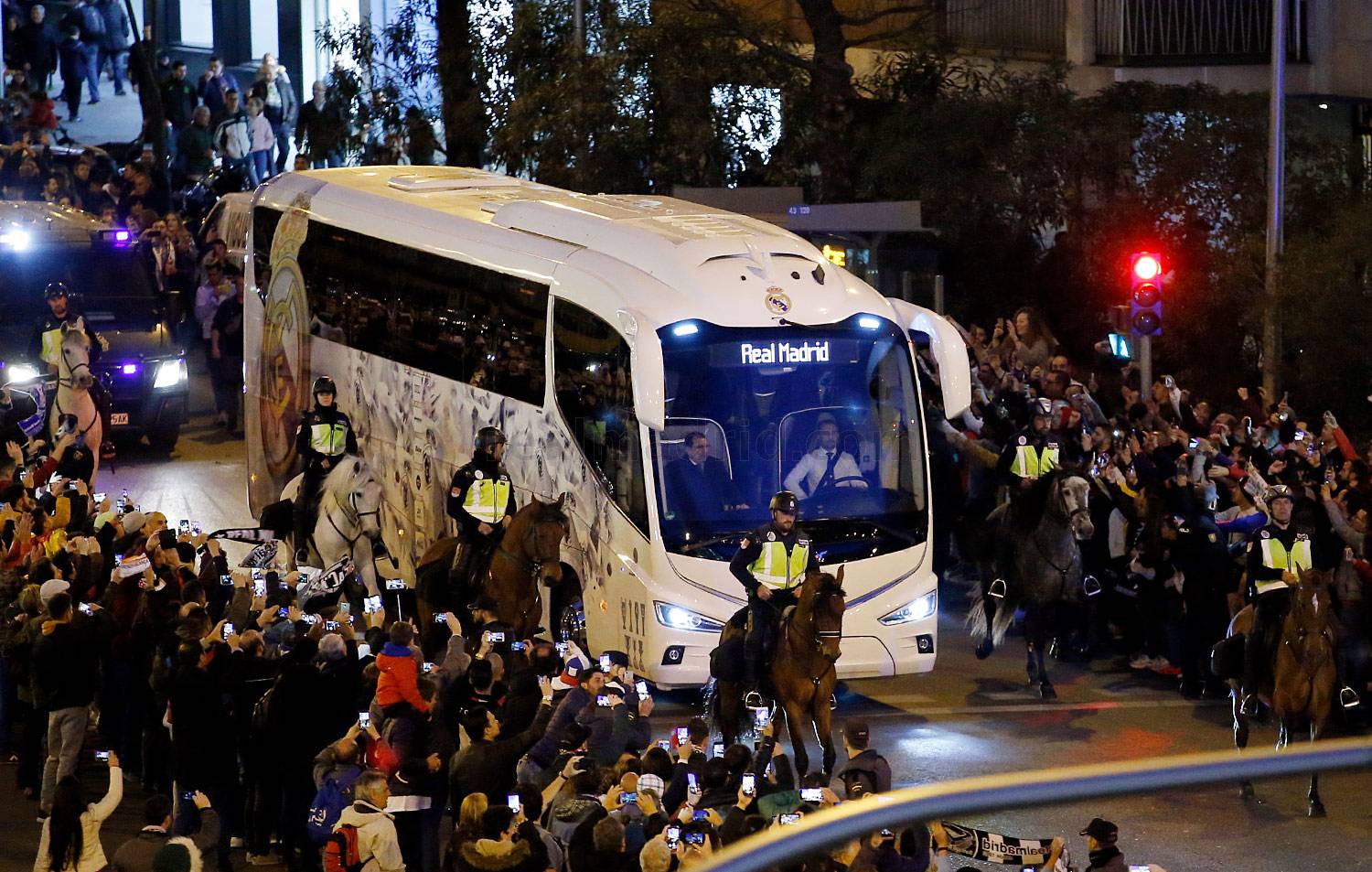 Real Madrid - Llegada del Real Madrid - 05-03-2019