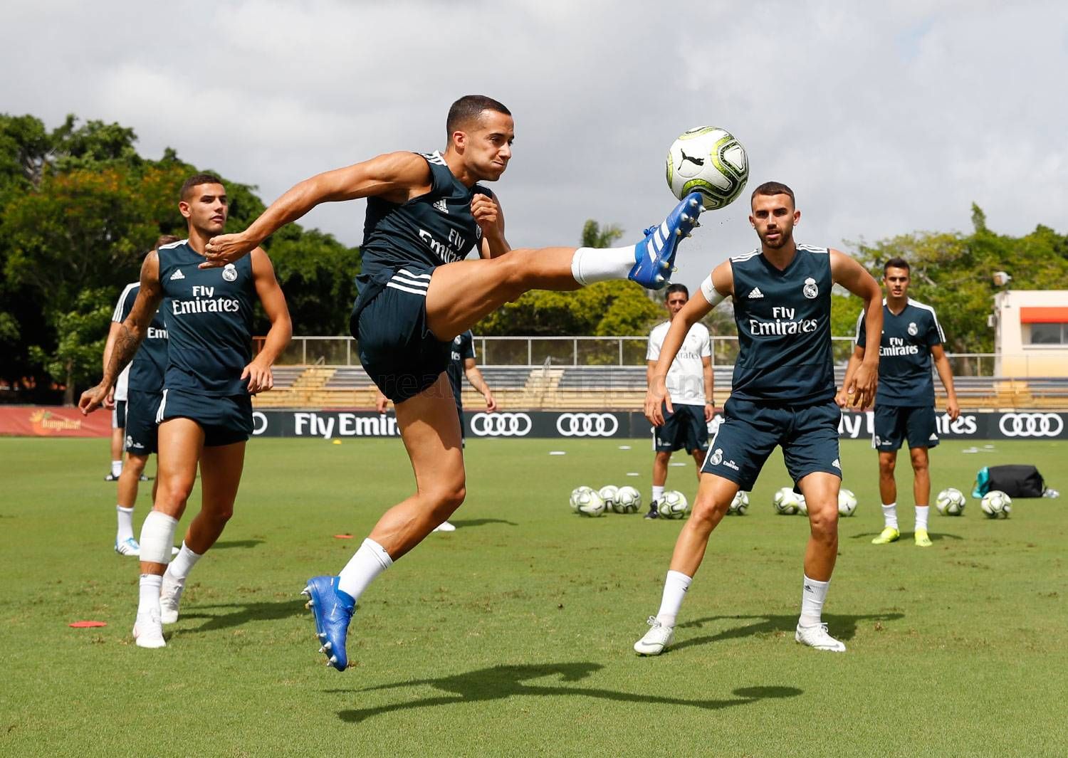 Real Madrid - Entrenamiento del Real Madrid en la Universidad de Barry - 01-08-2018