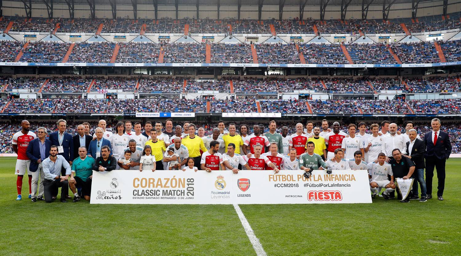 Real Madrid - Real Madrid Leyendas - Arsenal Legends - 03-06-2018