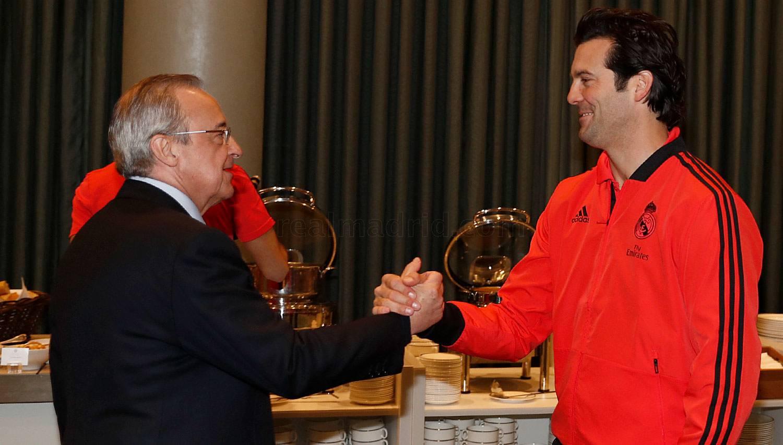 """Florentino Peres """"Real""""ni qo'llab-quvvatlash uchun Amsterdamga yetib keldi"""