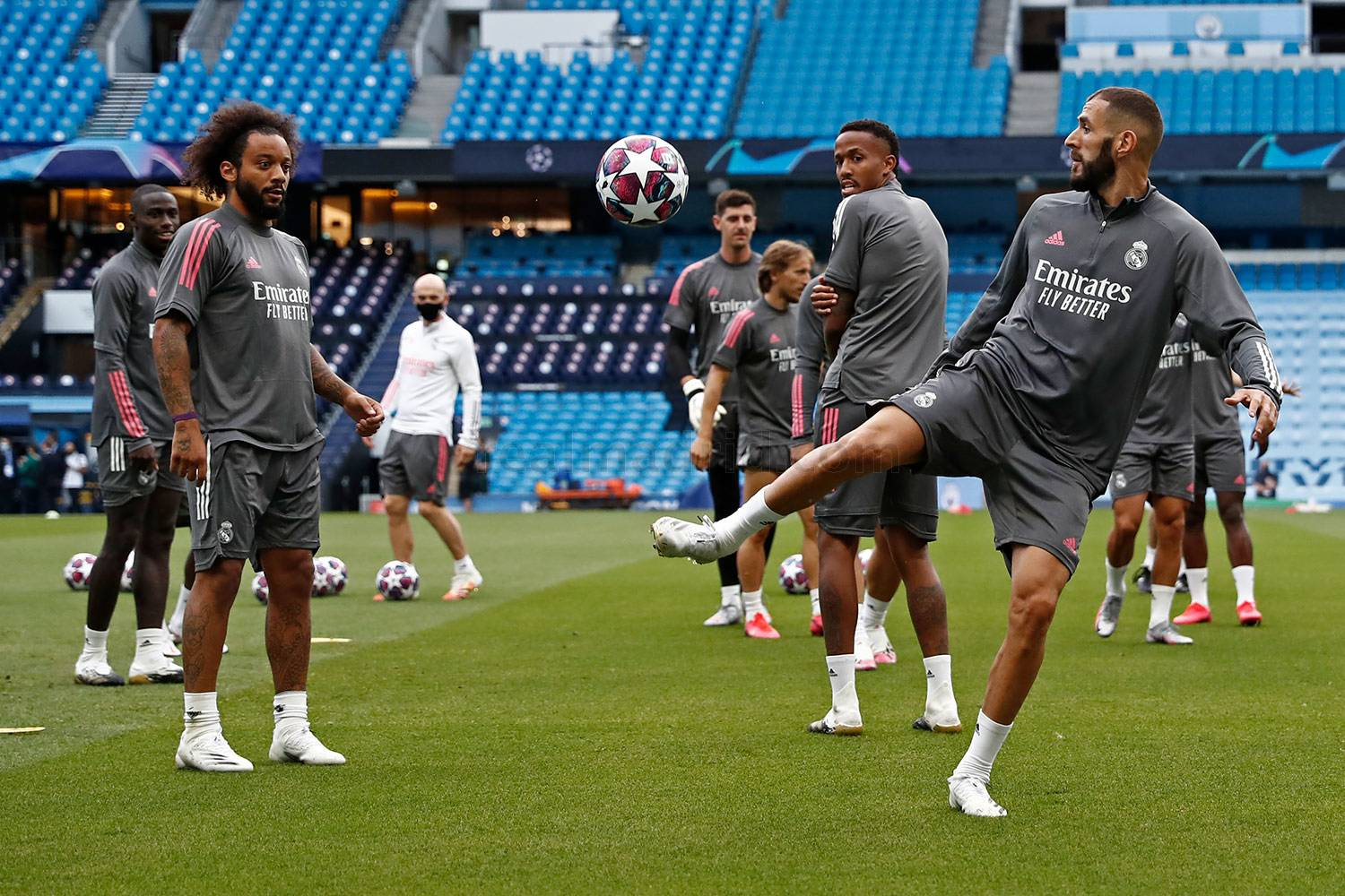 Real Madrid - Entrenamiento del Real Madrid en Mánchester  - 06-08-2020