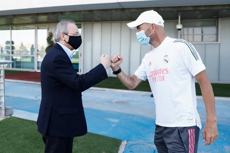 Real Madrid - El presidente visita al equipo antes del regreso a la Champions - 01-08-2020
