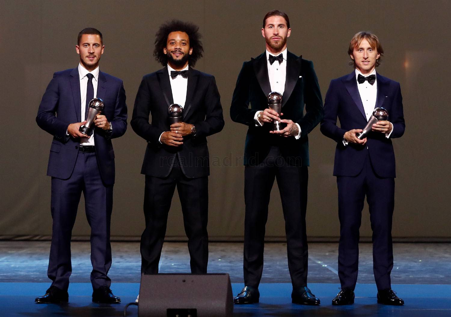 Real Madrid - Ramos, Marcelo, Modric y Hazard, en el FIFA FIFPro World11 - 23-09-2019