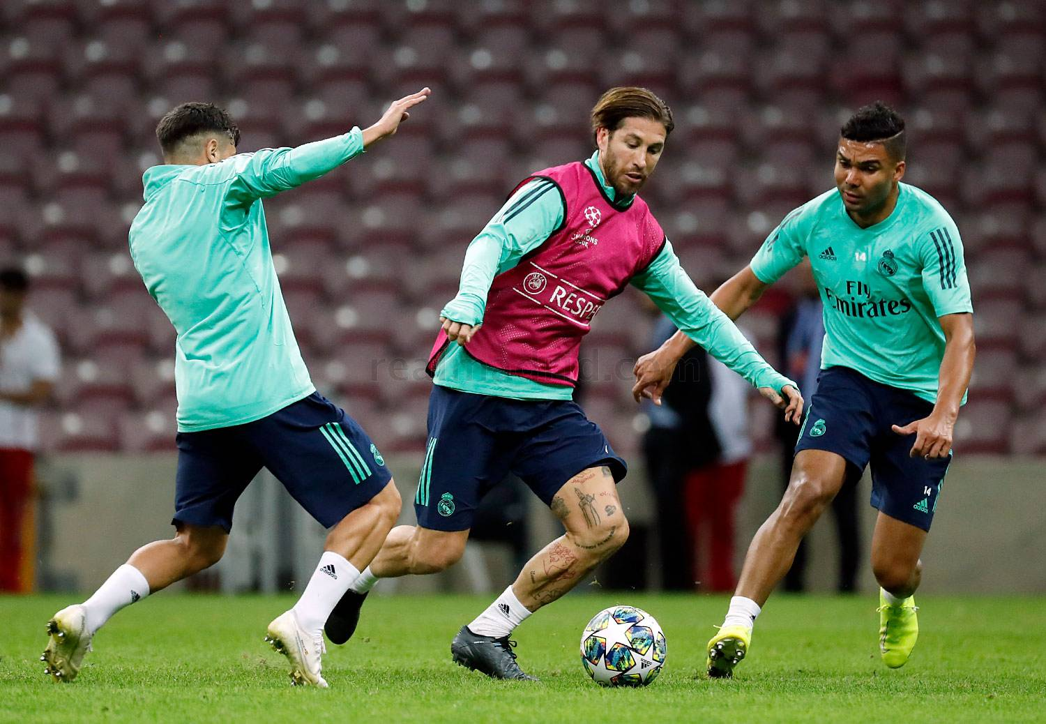 Real Madrid - Entrenamiento del Real Madrid en Estambul - 21-10-2019